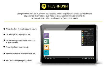 HushHushApp, una alternativa a WhatsApp enfocada a proteger la privacidad