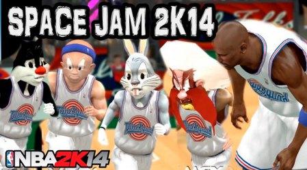 Puedes jugar a Space Jam con este mod para NBA 2K14 de PC