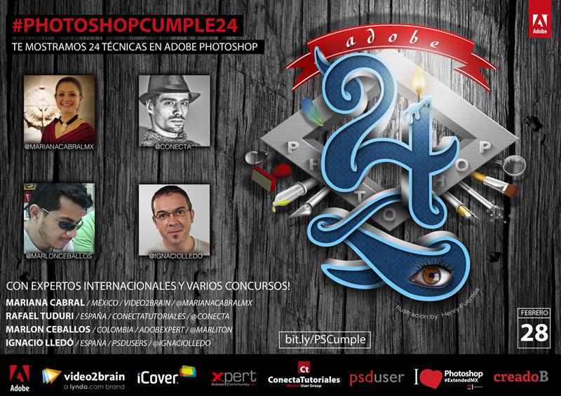 Photoshop cumple 24 años y te revela sus secretos este 28 de Febrero - conferencias-adobe-photoshop