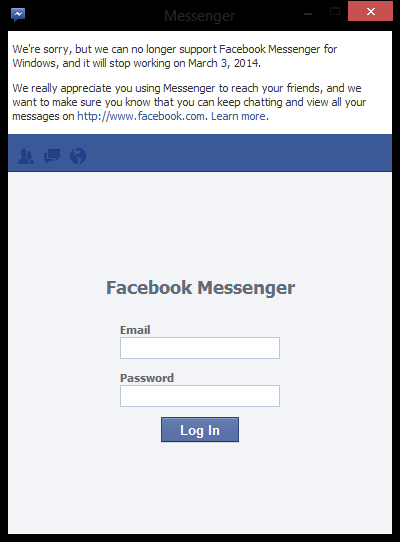Facebook Messenger para Windows dejará de existir el 3 de marzo - facebook_messenger_shutdown