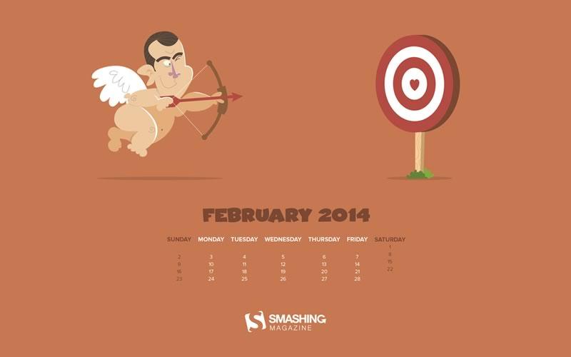 Fondos de Febrero 2014 para decorar tu escritorio y celular - fondos-febrero-2014-trainee-cupid