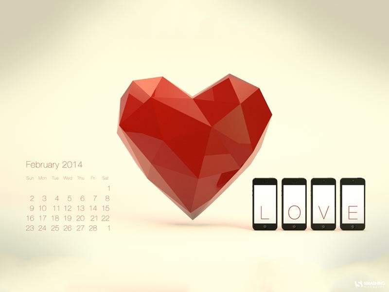 Fondos de Febrero 2014 para decorar tu escritorio y celular - fondos-febrero-it-smells-like-love-sauce