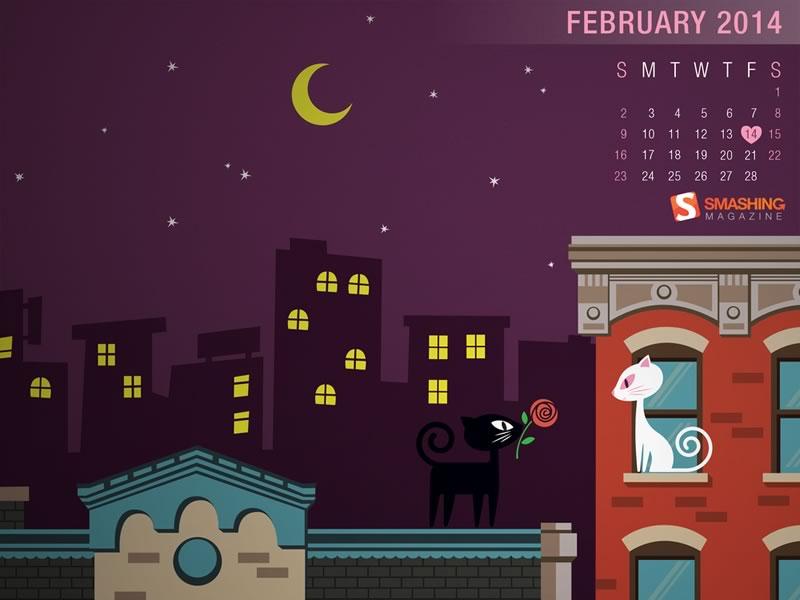 Fondos de Febrero 2014 para decorar tu escritorio y celular - fondos-febrero-valentine-kitties