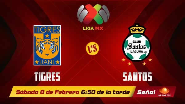 Tigres vs Santos en vivo, Jornada 6 Clausura 2014 - santos-vs-tigres-en-vivo-2014