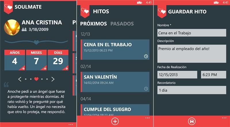 SoulMate, un app de windows phone para que nunca olviden su aniversario ni fechas importantes - soulmate-app-recordar-aniversario