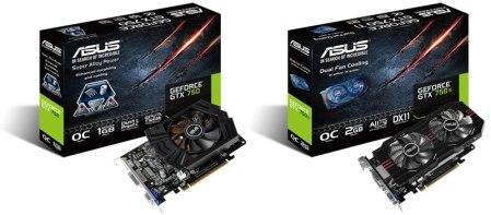 Nuevas tarjetas de video GTX 750 Ti y GTX 750 de ASUS