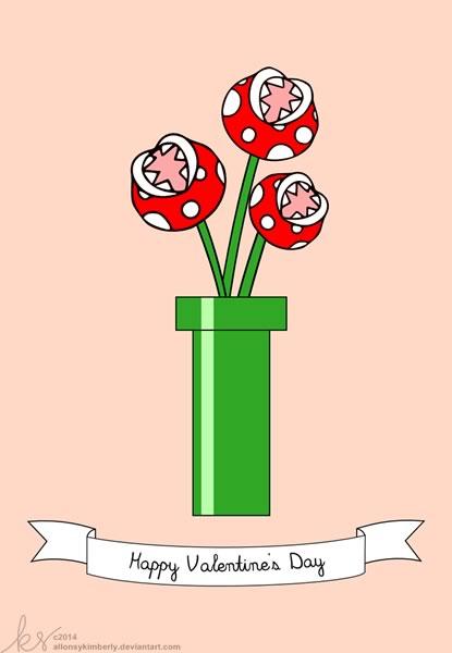 Tarjetas de San Valentín para Gamers que puedes imprimir - tarjetas-san-valentin-mario-bros