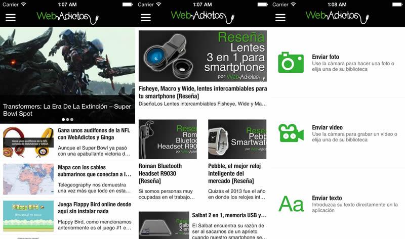 App de WebAdictos para Android y iPhone