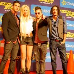 Estreno de la semana en el cine: Need For Speed: La película - Band_Jenny_and_The_Mexicats_Red_Carpet_at_Mexico_Premiere_of_DreamWorks_Pictures_NEED_FOR_SPEED_on_March_8_2014_at_the_Cinepolis_Patio_Santa_Fe_in_Mexico_City._Photo_by_Julio_Pineda