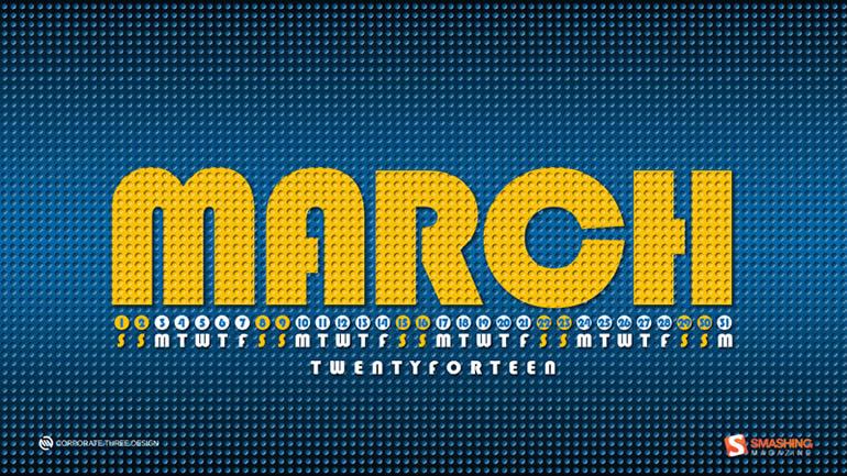 Decora tu escritorio con estos fondos con el calendario de Marzo - fondo-marzo-lego-land