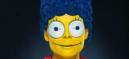 Un terrorífico Body Paint de Marge Simpson que no te puedes perder