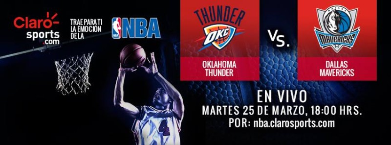 Ver NBA en vivo: Oklahoma City Thunder vs Mavericks de Dallas - nba-en-vivo-800x296