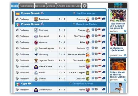 Resultados de futbol mexicano y otras ligas desde Chrome con esta extensión