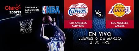 Ver la NBA en vivo por internet: Lakers vs Clippers de Los Angeles