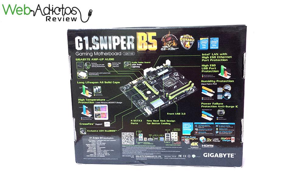 Gigabyte G1.Sniper B5, tarjeta madre para gamers con buenas prestaciones [Reseña] - 4.1