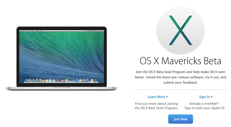 Apple ya permite a cualquier usuario ser beta tester de OS X Mavericks Beta - apple-beta-os-x-800x440