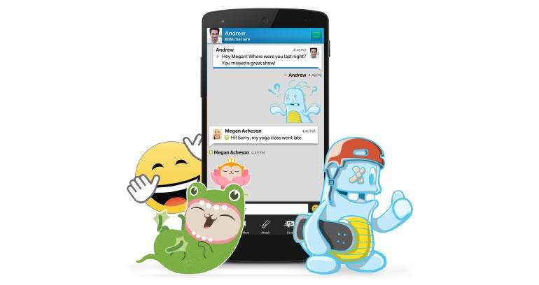 BBM agrega stickers y permite mandar archivos de mayor tamaño - blackberry-messenger-stickers
