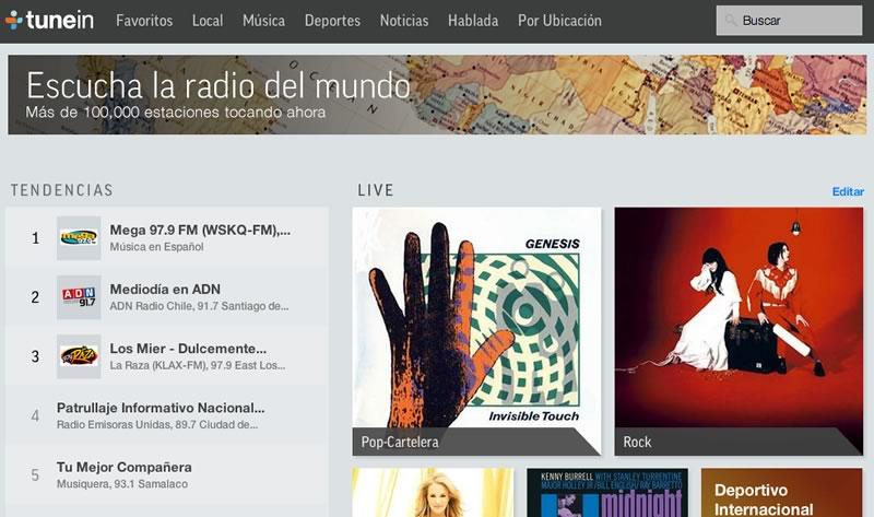 Escuchar Radio online de México y otros países en TuneIn - escuchar-radio-online