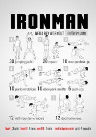 Rutinas de Ejercicios inspiradas en Superheroes - ironman-workout