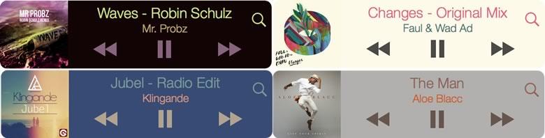 MiniPlayer para Mac, un reproductor de música flotante para iTunes, Spotify o Rdio - miniplayer-temas