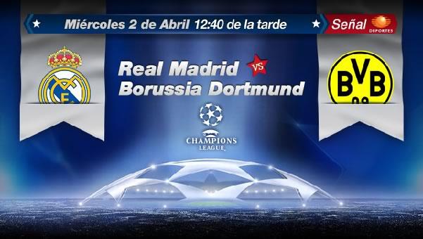 Real Madrid vs Borussia Dortmund en vivo, Cuartos Champions 2014 (ida) - real-madrid-vs-borussia-en-vivo-champions
