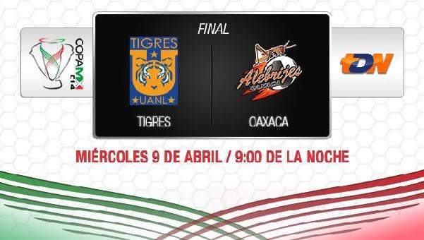Tigres vs Oaxaca en vivo, Final Copa MX 2014 - tigres-vs-alebrijes-en-vivo-televisa