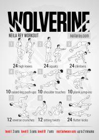 Rutinas de Ejercicios inspiradas en Superheroes - wolverine-workout