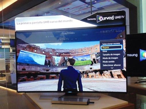 Pantallas Samsung UHD curvas llegan a México - Samsung-pantalla-UHD