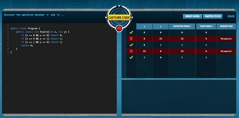 Code Hunt, un juego para aprender a programar de Microsoft - code-hunt-codigo