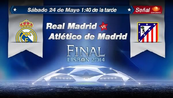 Real Madrid vs Atlético de Madrid en vivo, Final Champions 2014 - real-madrid-vs-atletico-de-madrid-final-champions-en-vivo