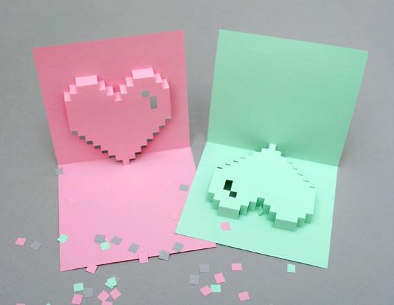5 Tarjetas del día de la madre para imprimir que te van a gustar - tarjetas-para-imprimir-corazon-pixeleado-popup