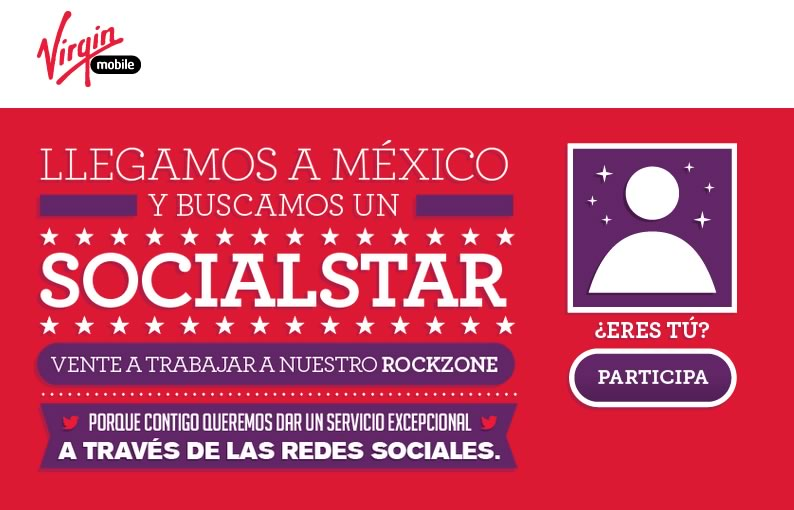 Virgin Mobile México anda buscando community manager ¡Entérate! - virgin-mobile-mexico-socialstar