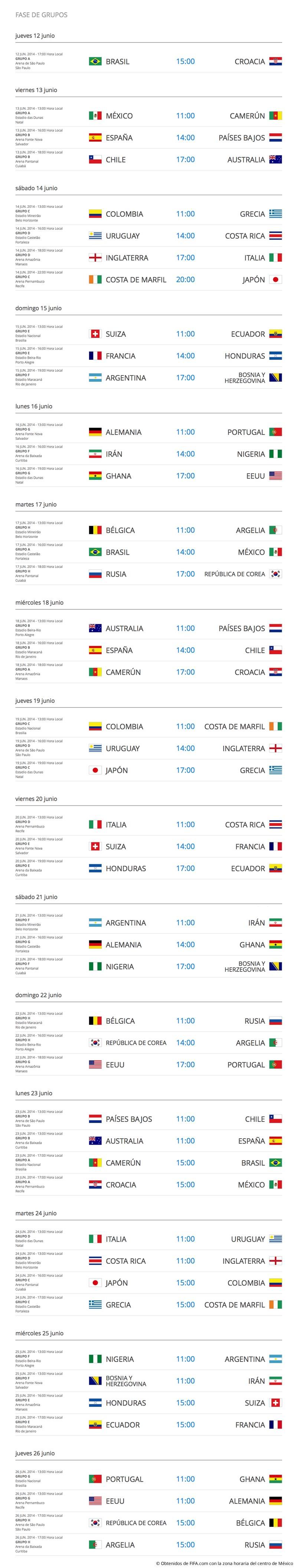 Descarga el calendario del Mundial 2014 (Fase de Grupos) - calendario-mundial-brasil-2014-descargar