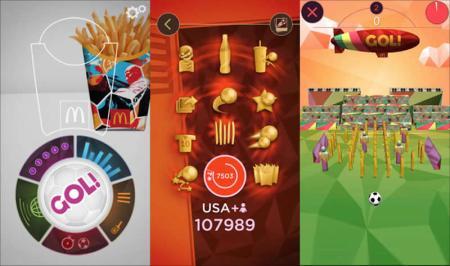 Gol!, la app de Mc Donalds para jugar futbol con realidad aumentada