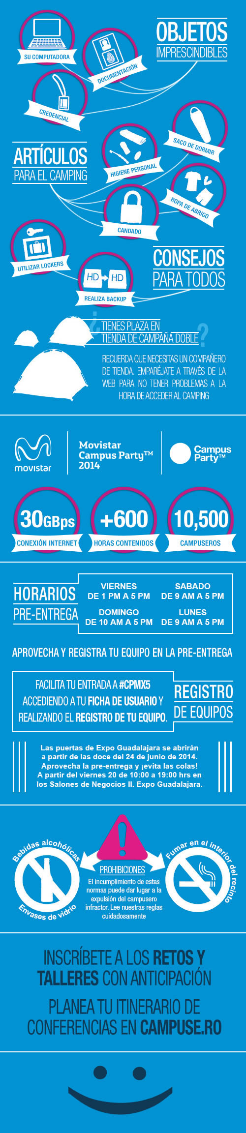 guia campusera campus party mexico 2014 ¿Vas a Campus Party México 2014? Esto necesitas saber #CPMX5