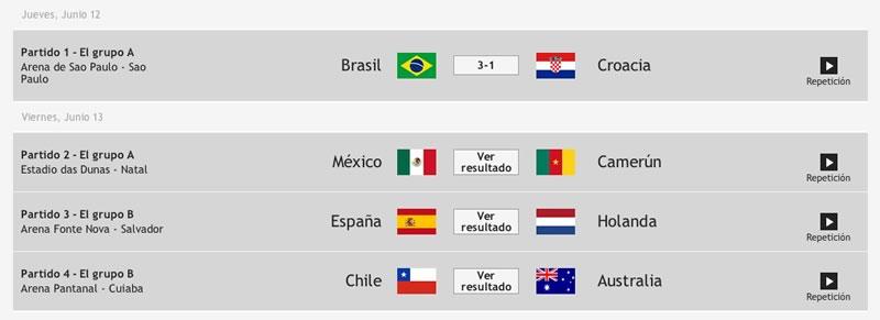 Cómo ver repeticiones de partidos del mundial completos - partidos-del-mundial-completos-brasil-2014
