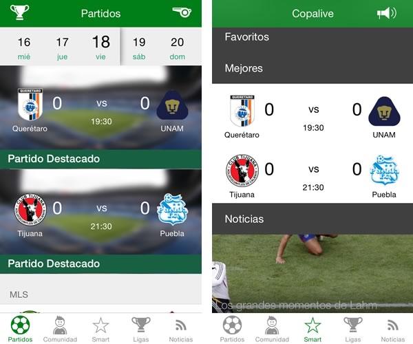 5 apps para seguir el torneo apertura 2014 de la liga MX - copalive-futbol-mexicano