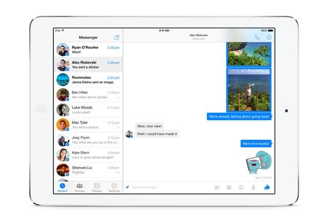 facebook messenger para ipad Facebook Messenger para iPad ya disponible