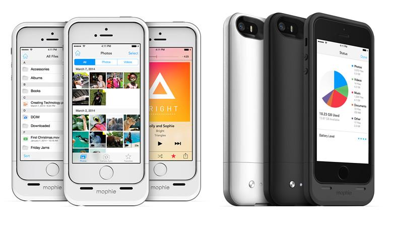 Mophie space pack, funda para iPhone que agrega 16 o 32 GB de almacenamiento - mophie-space-pack