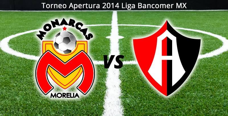 Morelia vs Atlas en vivo, Jornada 2 del torneo Apertura 2014 - morelia-vs-atlas-en-vivo-apertura-2014