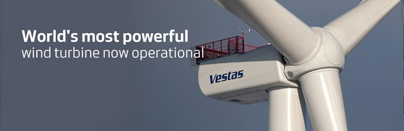 Vestas V164, la turbina de viento más poderosa del mundo - turbinas-vestas-V164