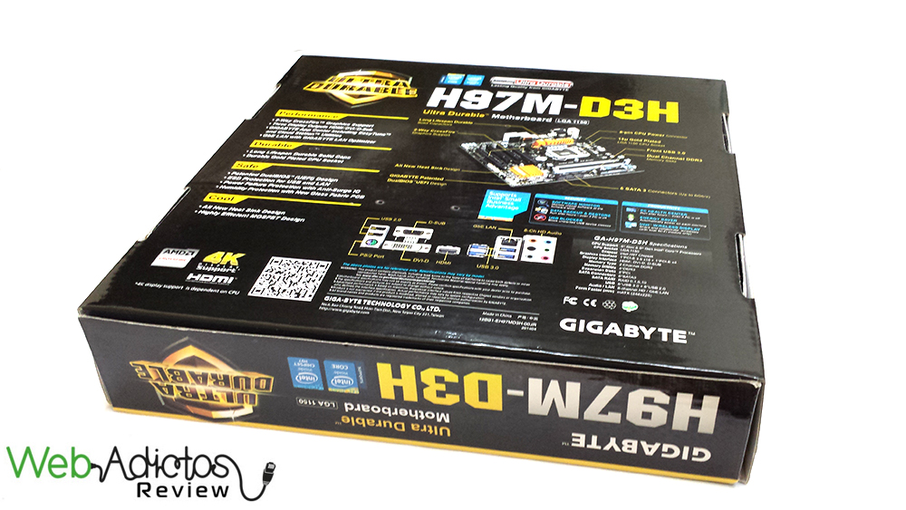 3 Gigabyte H97M D3H [Reseña]