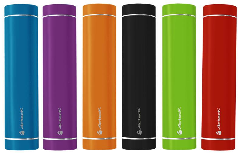 Batería externa Acteck Powerbank; Ligera, compacta y buen precio - Acteck-POWER-BANK-MVPB-Colores