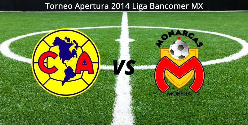 America vs Morelia en vivo Apertura 2014 América vs Morelia, Jornada 5 del Apertura 2014