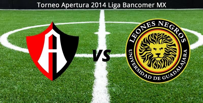 Atlas vs Leones Negros, Jornada 5 del Apertura 2014 - Atlas-vs-Leones-Negros-UDG-en-vivo-Apertura-2014