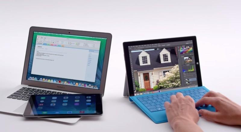 Microsoft ridiculiza a Apple con los nuevos comerciales de la Surface Pro 3 - Comercial-Surface-Pro-3-800x440