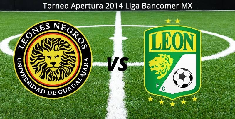 León vs Leones Negros, Jornada 6 del Apertura 2014 - Leon-vs-Leones-Negros-UDG-en-vivo-Apertura-2014