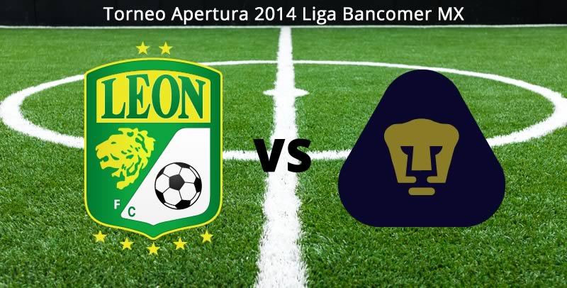Leon vs Pumas en vivo Apertura 2014 León vs Pumas, Jornada 5 del Apertura 2014