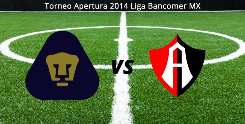 Pumas vs Atlas, Jornada 4 del Torneo Apertura 2014 - Pumas-vs-Atlas-en-vivo-Apertura-2014