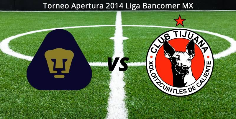 Pumas vs Tijuana en la Jornada 6 del Apertura 2014 - Pumas-vs-Tijuana-en-vivo-Apertura-2014